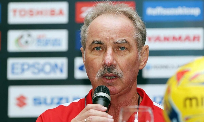 Alfred Riedl has coached Vietnam in 61 games, more than any other manager. Photo by VnExpress/Duc Dong.