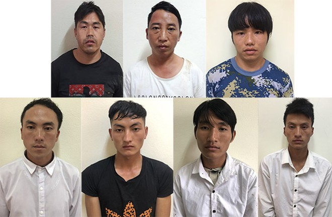 Seven men arrested for trafficking 41 women from northern Vietnam to China from 2018. Photo courtesy of the police.