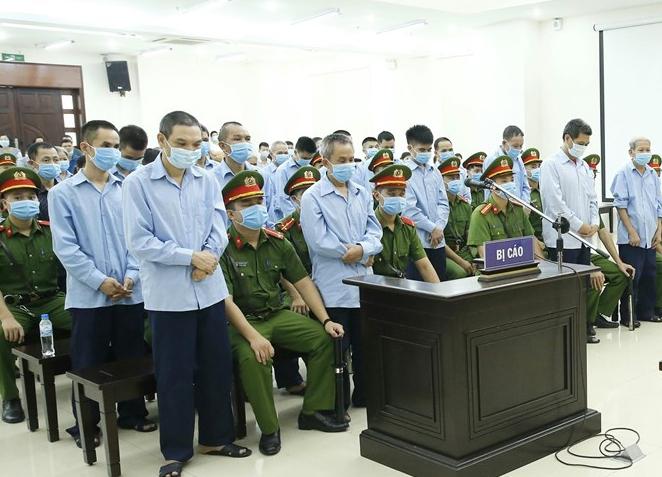 Twenty-nine defendants at the court, September 14. Photo courtesy of Vietnam News Agency.