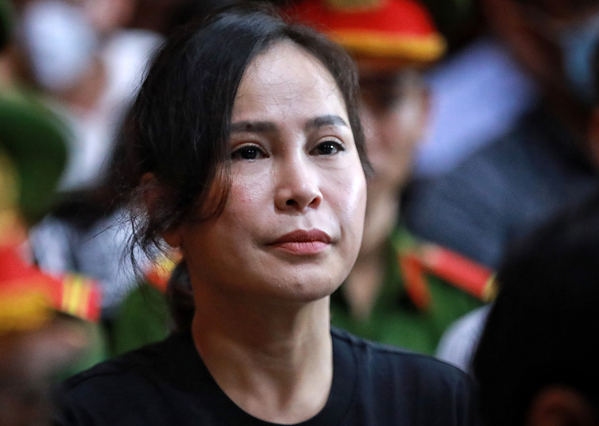 Le Thi Thanh Thuy at the court in HCMC, September 20, 2020. Photo by VnExpress/Huu Khoa