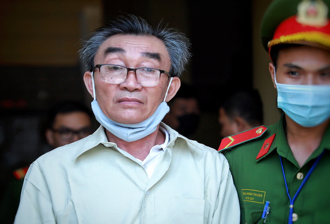 Nguyen Khanh after a trial against his directing a police station bombing in HCMC, September 22, 2020. Photo by VnExpress/Huu Khoa.