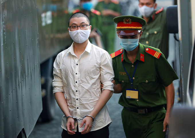 Vo Hoang Nam, who directly denonated the bombs in the police station