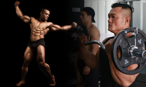 Scoliosis fails to twist Saigon gymnast's bodybuilding dream