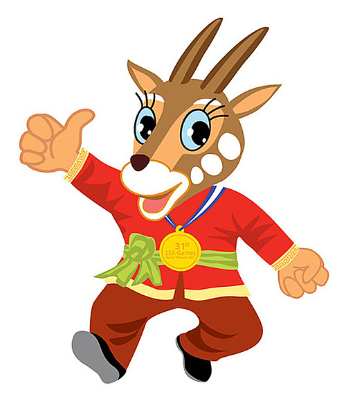 Saola design is proposed to become the official mascot of SEA Games 31 and ASEAN Para Games 11. Photo courtesy of Vietnam Sports Administration.
