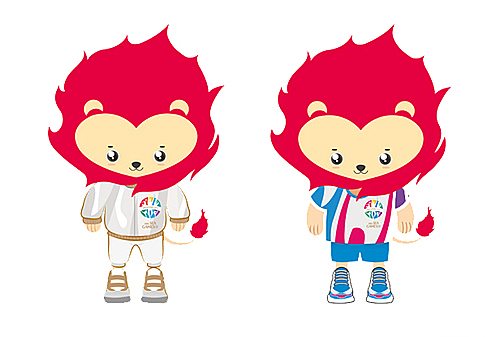 The 2015 SEA Games was hosted by Singapore with lion Nila as the official mascot for the 28th edition, inspired by the national symbol of Singapore.His heart-shaped face symbolizes friendship while the red mane represents courage and the burning passion for sport.
