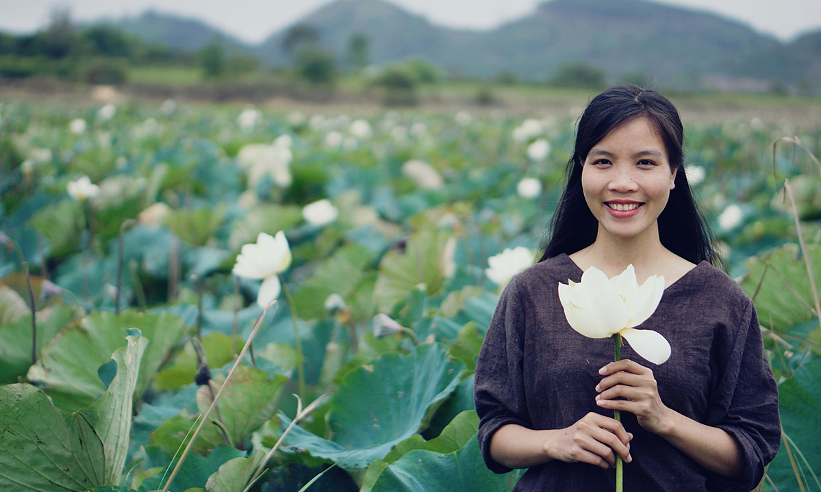 Tam An has a love for agriculture production and organic farming. Photo courtesy of Tam An.