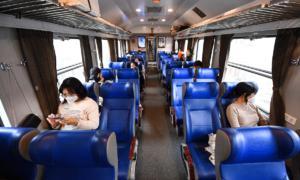 Railway passenger numbers plummet by half