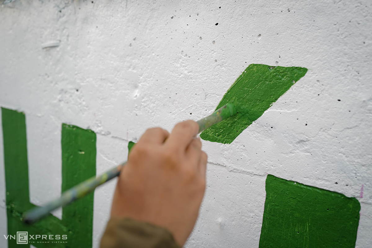 In all, artists have painted on a total area of 3,450 square meters.