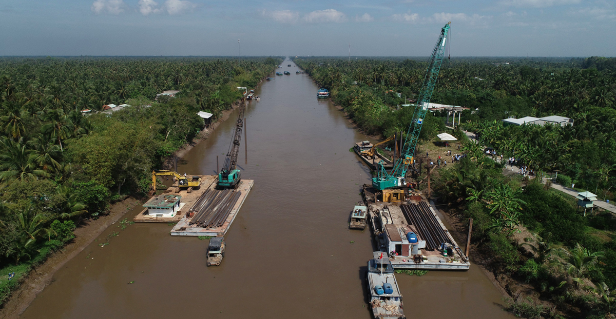 The Nguyen Tan Thanh channel in Tien Giang Province is being proposed to be turned into an artificial lake for the dry season. Photo by VnExpress/Minh Thanh.