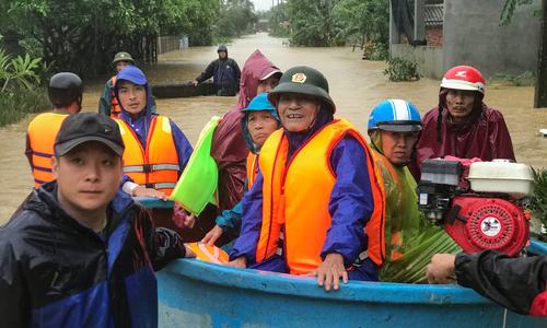 Historic deluge drowns three central Vietnam provinces