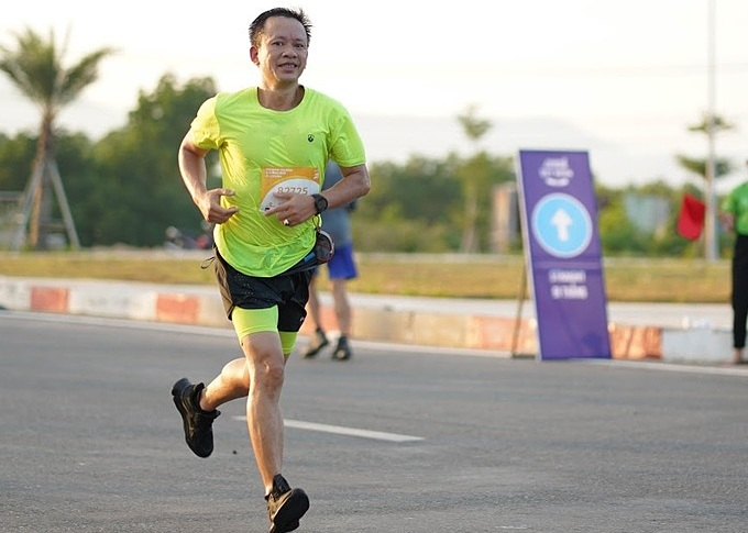 Dinh Nam Binh at the VnExpress Marathon Quy Nhon on July 26, 2020. Photo courtesy of VnExpress Marathon.