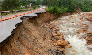 Highways ravaged by landslides in central Vietnam