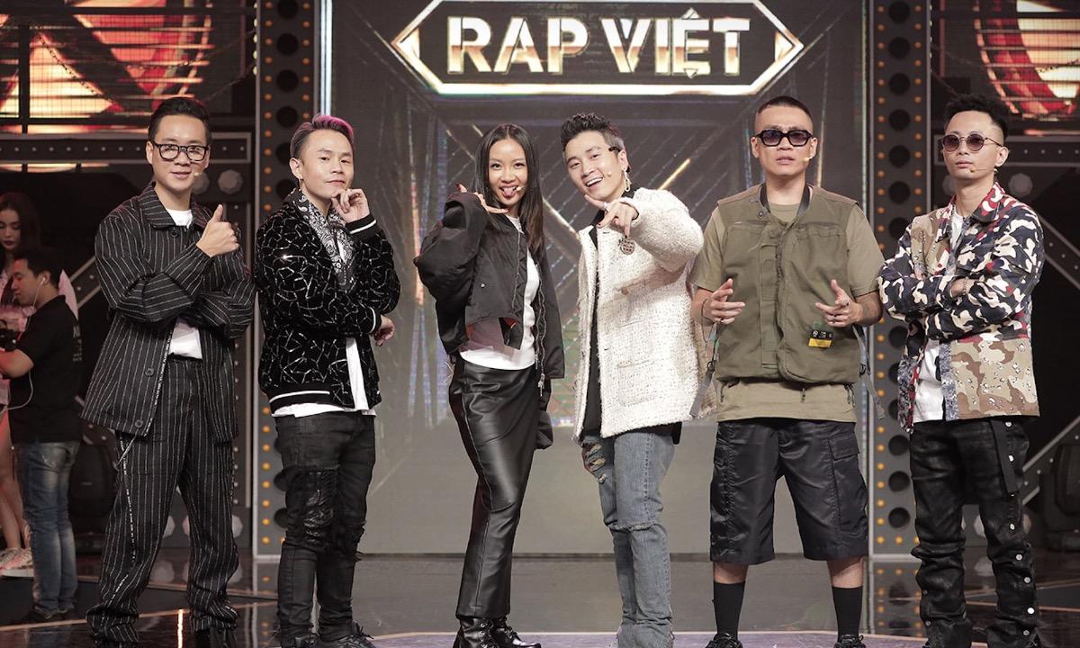 Judges and coaches in Rap Viet are famous Vietnamese rappers. Photo courtesy of Rap Viet.