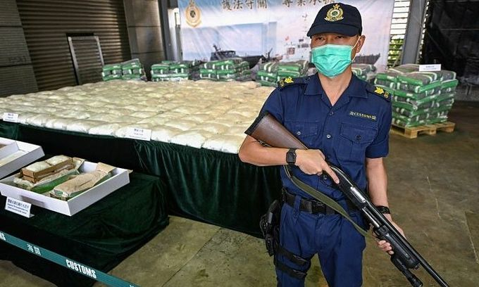 Hong Kong seizes half a ton of meth from Vietnam