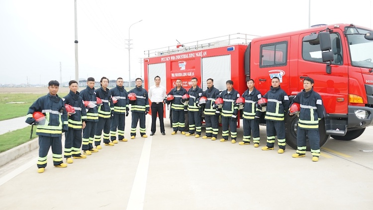WHA Nghe Ans firefighting team.