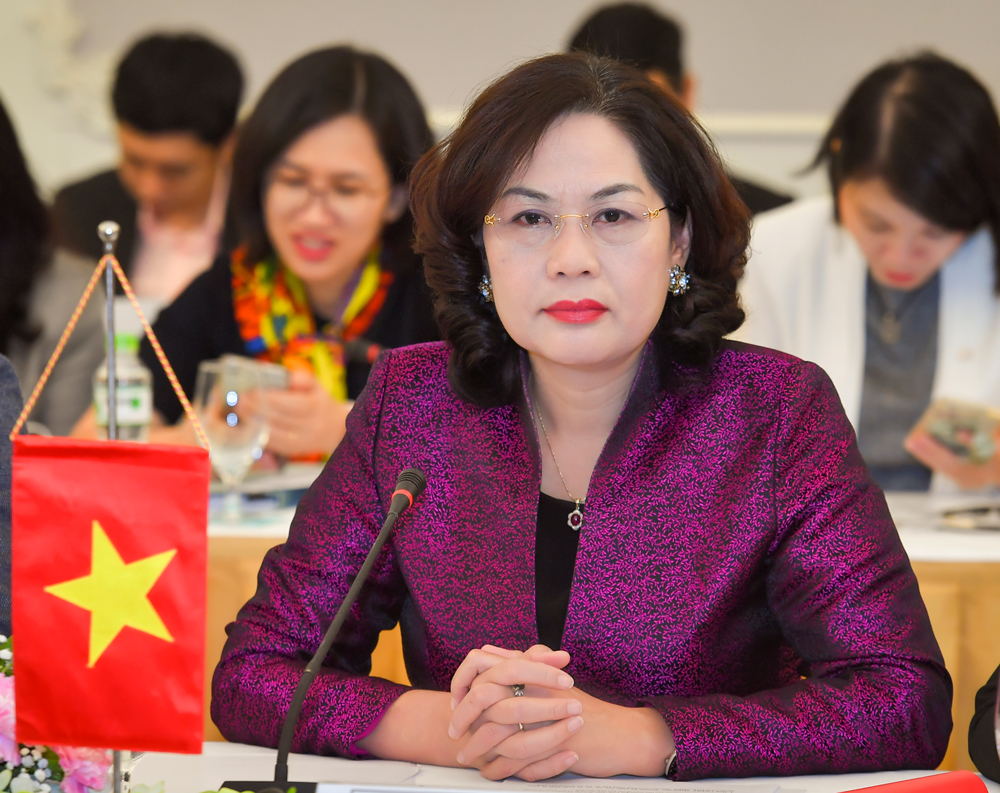 Nguyen Thi Hong, the first female governor of the State Bank of Vietnam. Photo courtesy of SBV.