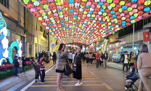 Lang Son Province walking street a new tourist destination