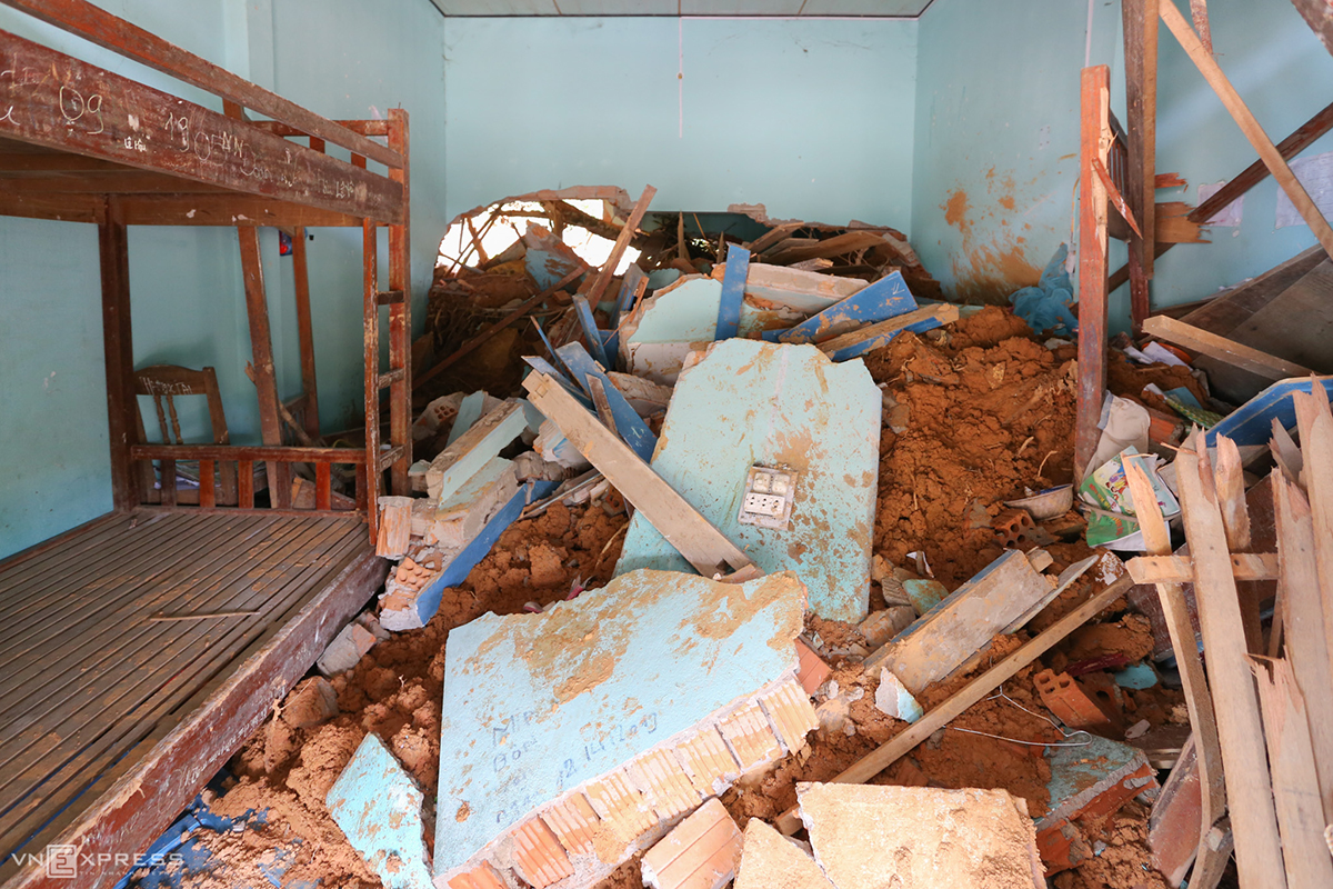 A dormitory for teachers at the school after the disaster.