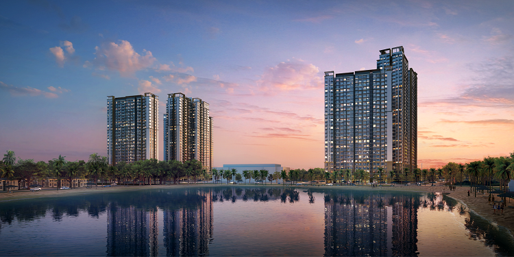 Masteri Waterfront in the heart of Vinhomes Ocean Park.