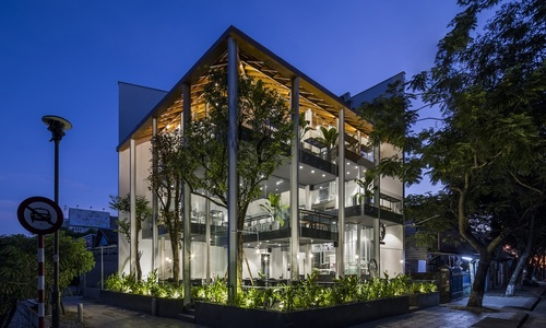 Hue coffee house architects connect the past with the future
