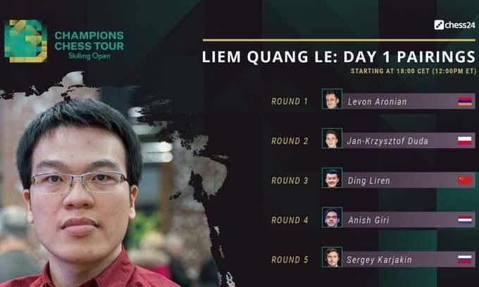 Vietnamese GM off to bumpy start in elite rapid chess tournament