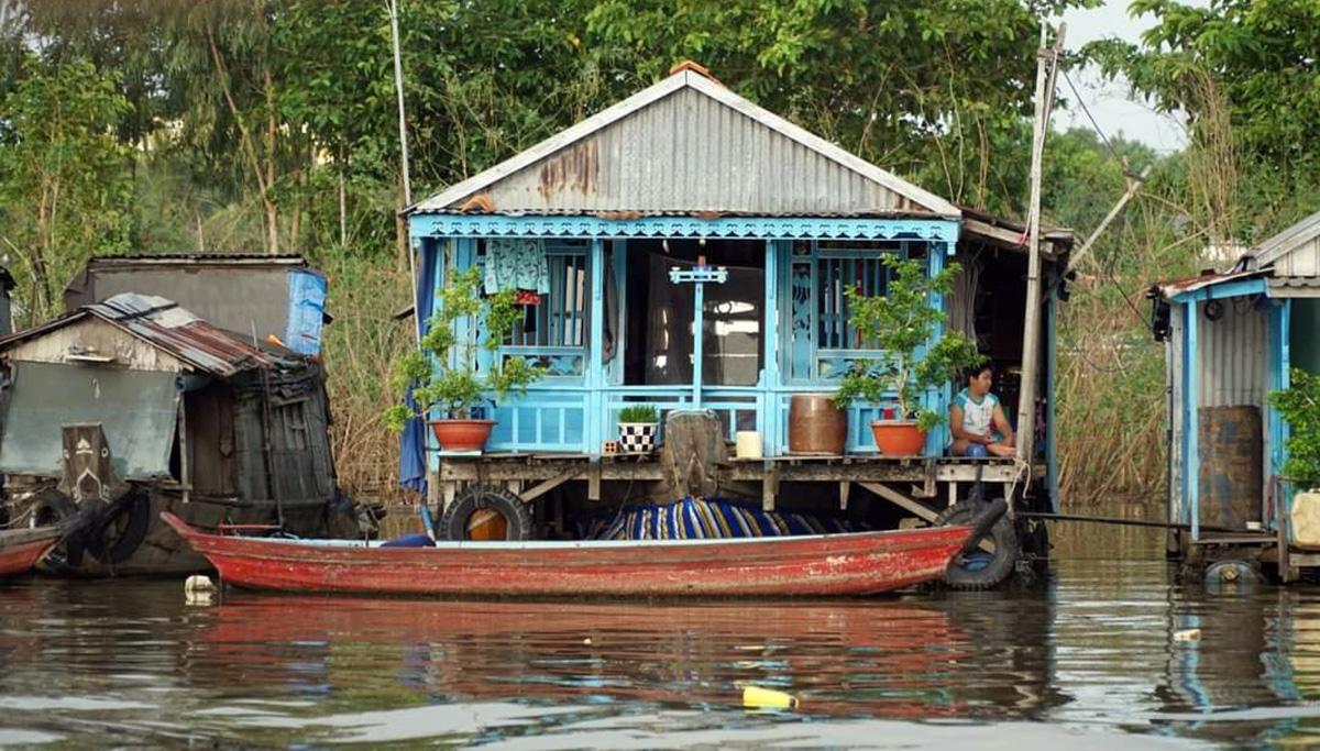 The Chau Doc floating village. Photo courtesy of Huynh Dang Khoa.