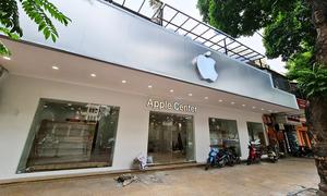 Hanoi store changes name, logo resembling Apple