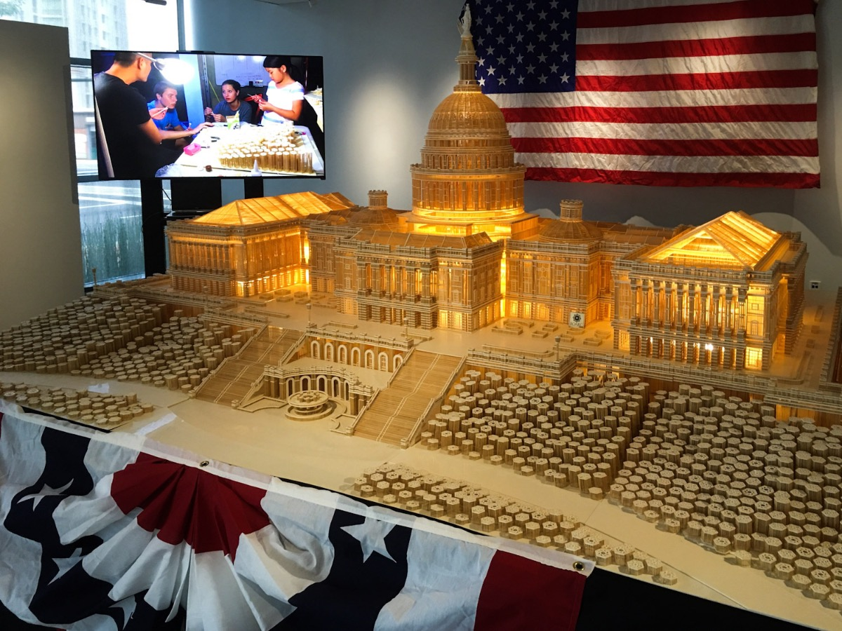 The U.S. Capitol Building, once exhibited in the U.S., was given to the Ripley's Believe It Or Not! Museum in Dubai, UAE.  The Capitol Building miniature is too glorious to be true. It is a favorite item in our famous collection. Buying this was the most successful business we had in 2016, said a vice head of the museum's department of exhibiting and archiving, said.