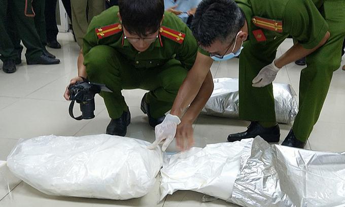 31 kg Cambodia drug haul captured in Mekong Delta