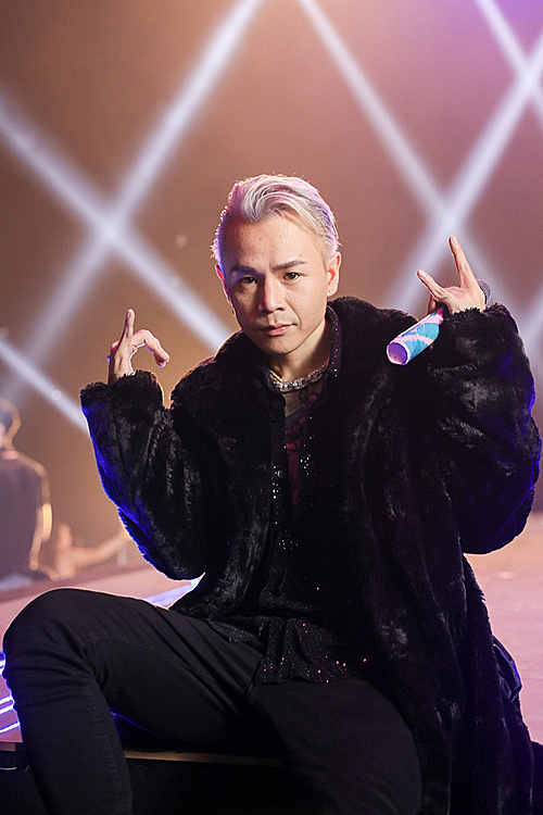BinZ in a rap performance. Photo courtesy of BinZ.