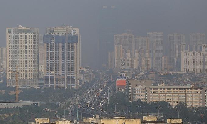 Hanoi air quality reaches unhealthy levels, to worsen
