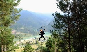 Slither over Yen Bai's lovely landscapes on a zipline