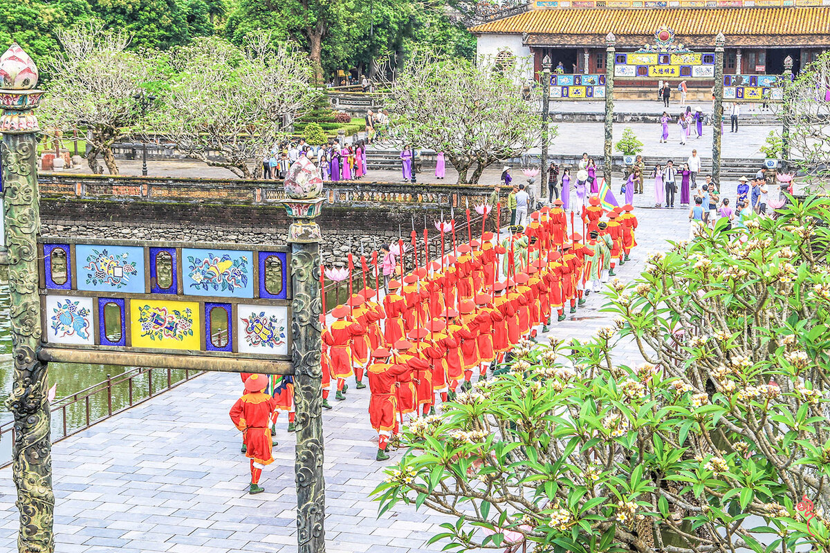 Changing of the guard at Hue Imperial Citadel