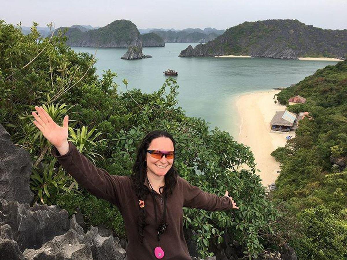 Lourdes Gala Santos, a Scottish female biker chose Vietnam for her next long ride. Photo: The Culture Trip.