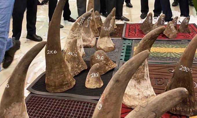 93 kilos of suspected rhino horns found in Saigon warehouse