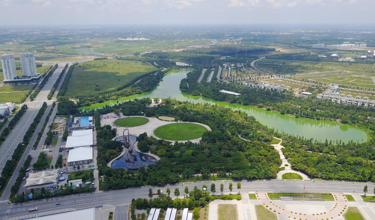 Binh Duong New City Park. Photo by VnExpress/Quynh Tran.