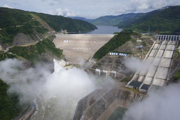 Chinas Nuozhadu dam in upstream Mekong river. Photo by Bqaz.yn.gov.cn.