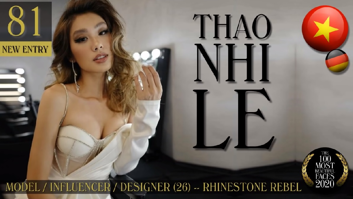Fashionista Thao Nhi Le. Screenshot from TC Candlers video.