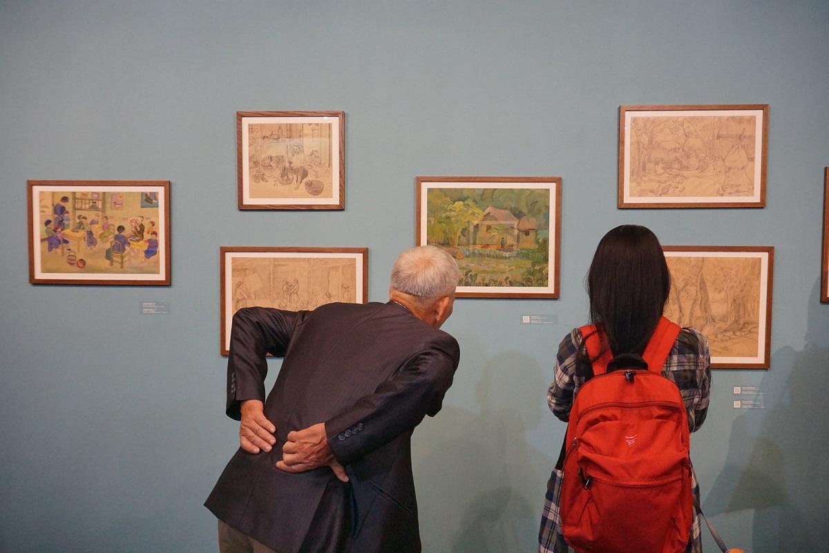 A painting exhibition in Hanoi. Photo Courtesy of LEspace Hanoi.