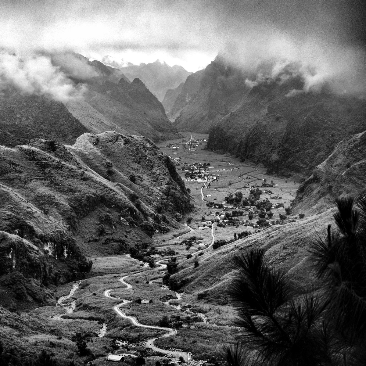 Trinh, 29, created a project named 'Come from Vietnam' that showcases his home countrys beautiful landscapes from north to south. In the picture above, a mountain scene from Ha Giang, a province in the far north, shows a dramatic gorge with a narrow trail that seems endless.
