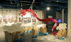Red origami dragon highlight of Saigon photo exhibit