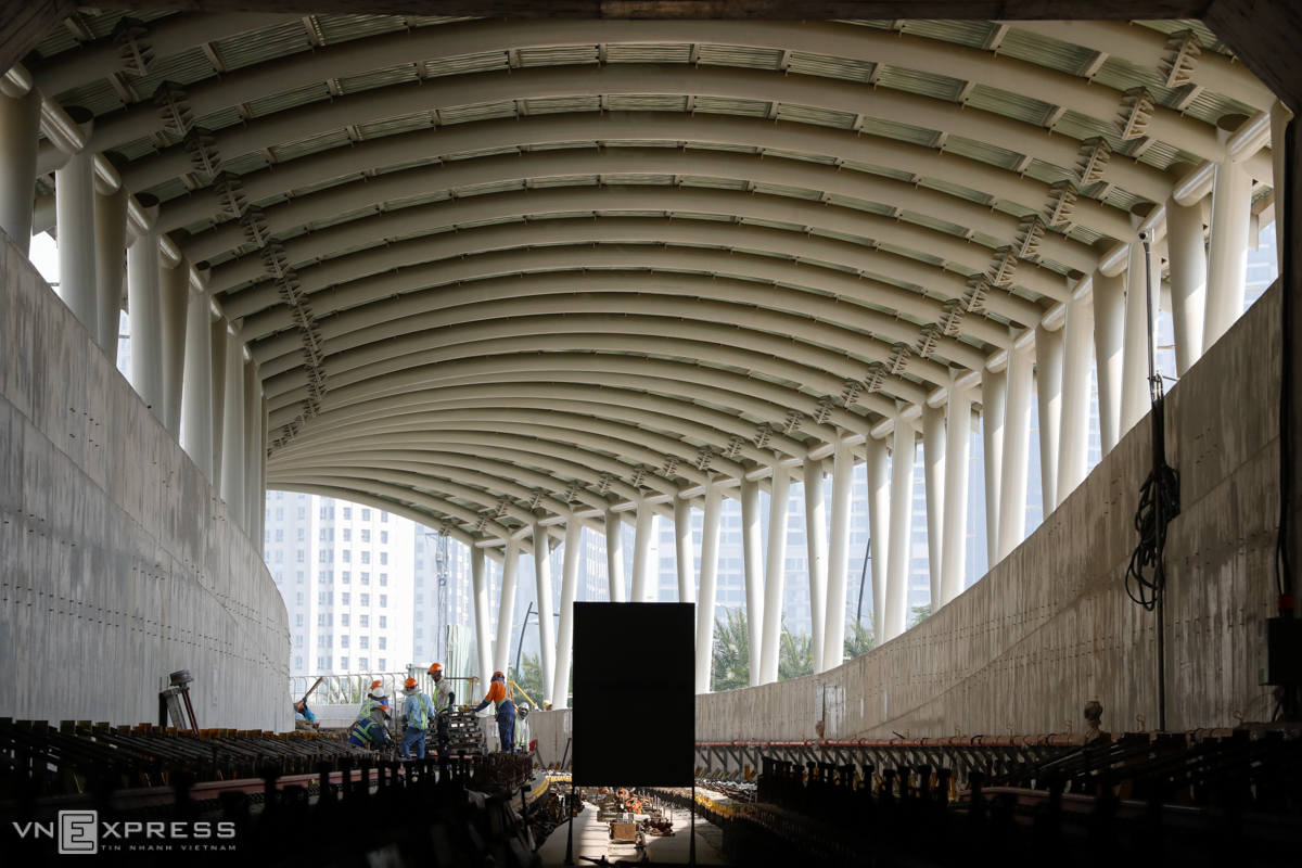 Saigon underground metro station nears completion