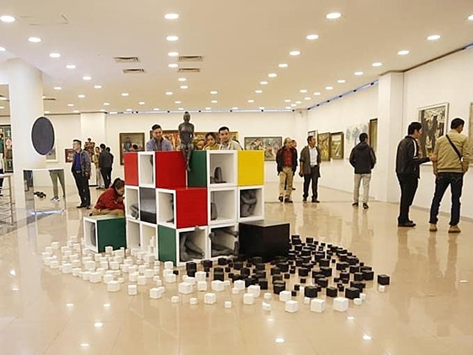 The Vietnam Fine Art Exhibition in Hanoi, December 2020. Photo by VnExpress/Khieu Minh.