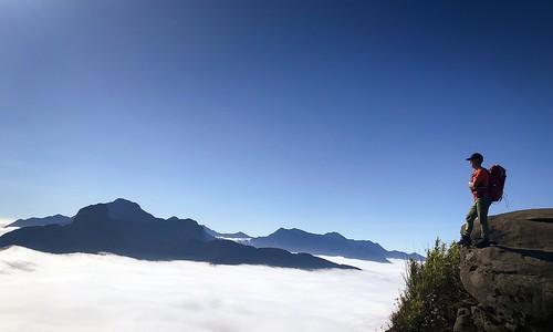 Lao Than peak in ocean of clouds