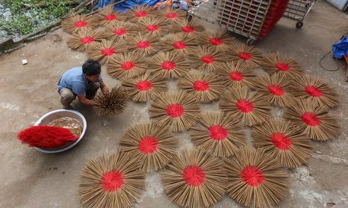 Quang Nam incense village prepares for Tet rush