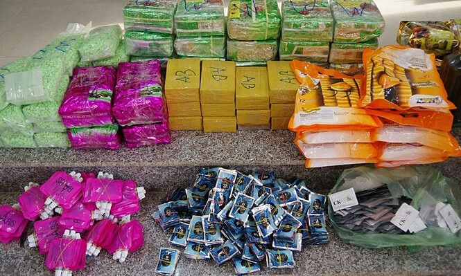 90 kg of drugs from Cambodia seized in Mekong Delta