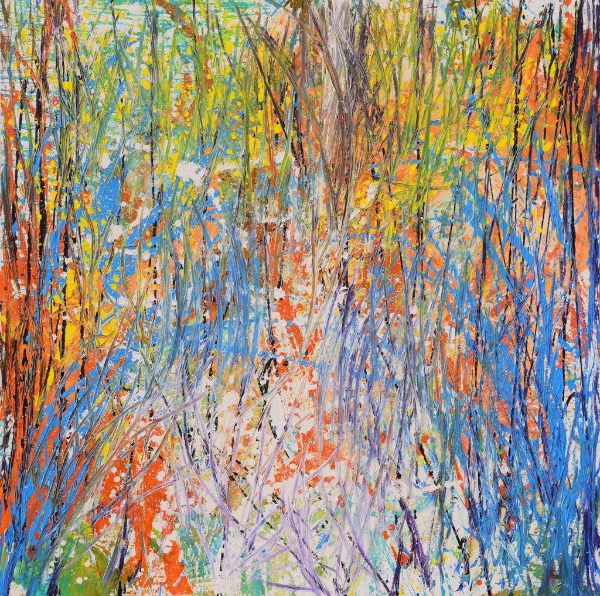 Autumn in Canada, an abstract work by Xeo Chu. Photo courtesy of Xeo Chu and George Berges Gallery.