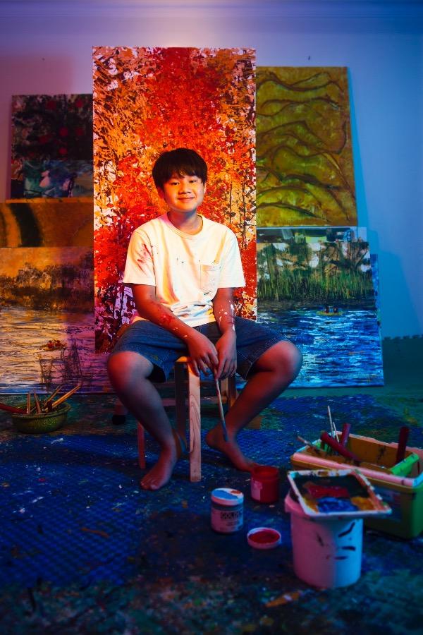 Chu in his studio. Photo courtesy of Xeo Chu.
