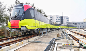 Second Hanoi metro line conducts debut trial run