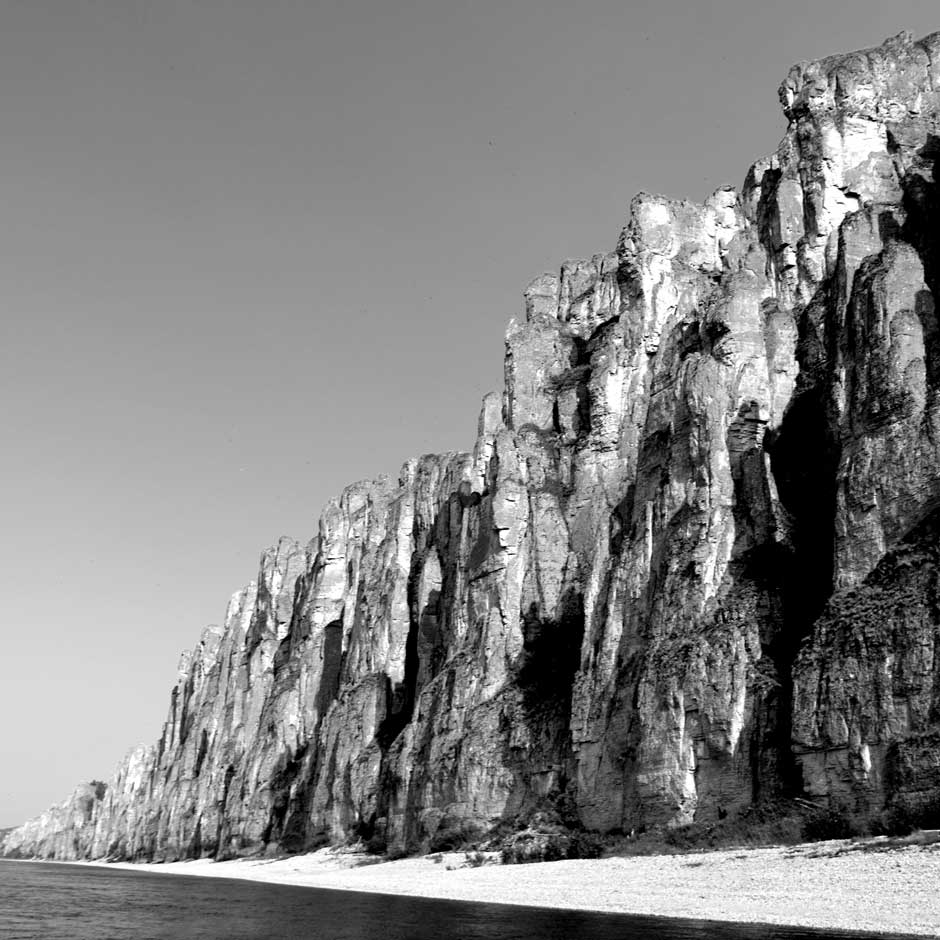 Russias Lena Pillars Nature Park is marked by spectacular rock pillars that reach a height of approximately 100 meters along the banks of Lena River in Yakutsk.